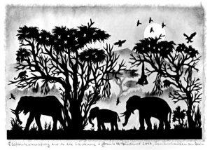 elefantenausflug in der savanne